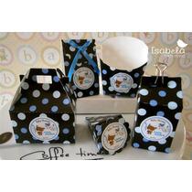 Paquete 25 Cajitas Cajas Carton Mesa Dulces Bautizo Dulceros