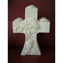 Recuerdo De Cruz Porta-velas Con Cristo