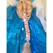 Vestido De Elsa Frozen Con Capa Y Peluca D Hielo Hermoso!!