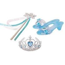 Frozen Elsa Accesorios Tiara Zapatilla Wand