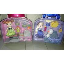 Preciosas Muñecas Animators De Anna Y Elsa Con Accesorios