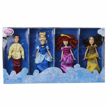 Mini Set Muñecas Cenicienta Príncipe Hermanastras Disney