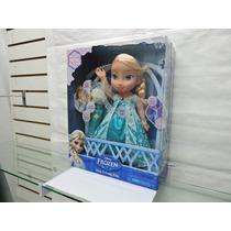 Elsa Canta Con Microfono Disney Frozen