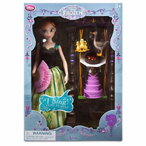 Hermosa Princesa Anna De Disney -singing Doll- Set De Lujo