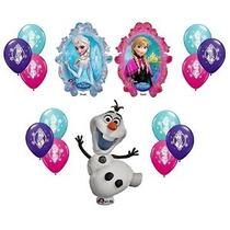 Disney Congelado X-large Mylar Globos Olaf Anna Elsa Con 12