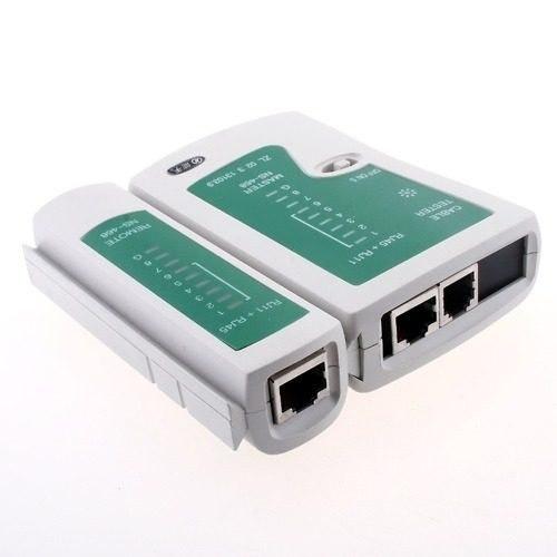Probador Para Cables Rj45 Y Rj11 Redes De Teléfono Y Datos