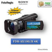 Video Camara Sony Fdr-ax100/b 4k Con Sensor De 1 Pulgada