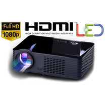 Proyector Led 2500 Lumen Hdmi Tv Hd Full Vga Usb Av Sky Dish