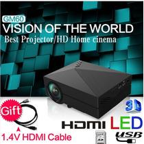 Mini Proyector Led 180 Lumens Tv Turner Hdmi 3d Full Hd