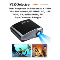 Proyector Mini Led Hd 60-100 1920 Tv Sd Usb Vga Av Hdmi Viko