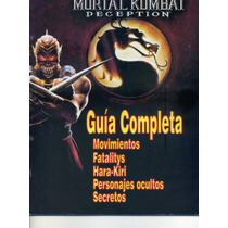 Guia De Estrategia Mortal Kombat Deception Revista Ps2