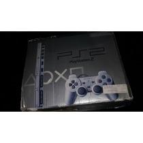 Playstation 2 Slim Color Plata Silver