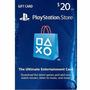 Playstation Network Gift Card - Ps3/ Ps4/ Ps Vita $20 Usd
