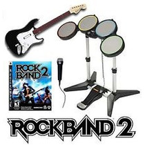 :: Rock Band Play Station 3 Ps3 + Guitar Hero Wolrd Tour ::