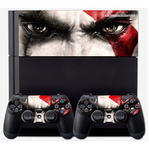 Ps4 Skin God Of War Faceplate +2 Controles