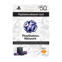 Tarjeta Psn 50 Usd Card Playstation Network Ps3 Envio 5 Min.