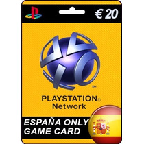 Tarjeta Gift Card Playstation Network España 20 Euros Ps3 Ps