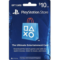 Tarjeta Playstation Store 10 Usd Psn Card Gift Card Ps4 Ps3