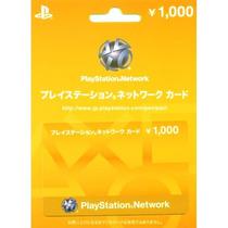 Playstation Network Card Japonesa ¡envio Al Instante!