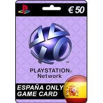 Tarjeta Gift Card Playstation España 50 Ps4 Envío Gratis