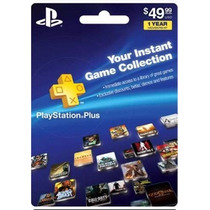 Tarjeta Gift Card Psn Playstation Plus 12 Meses Ps3 Ps4 Vita