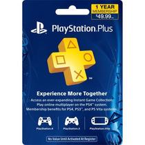 Membresia De 1 Año Playstation Plus Psn Para Ps4, Ps3, Vita