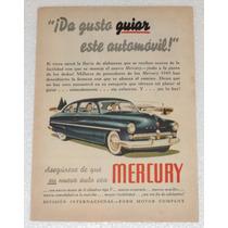 Antiguo Anuncio Publicidad De Autos Ford Mercury 1949