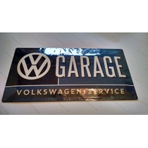 Placa Vintage Volkswagen 50x25 Retro Jetta Vocho Caribe Golf