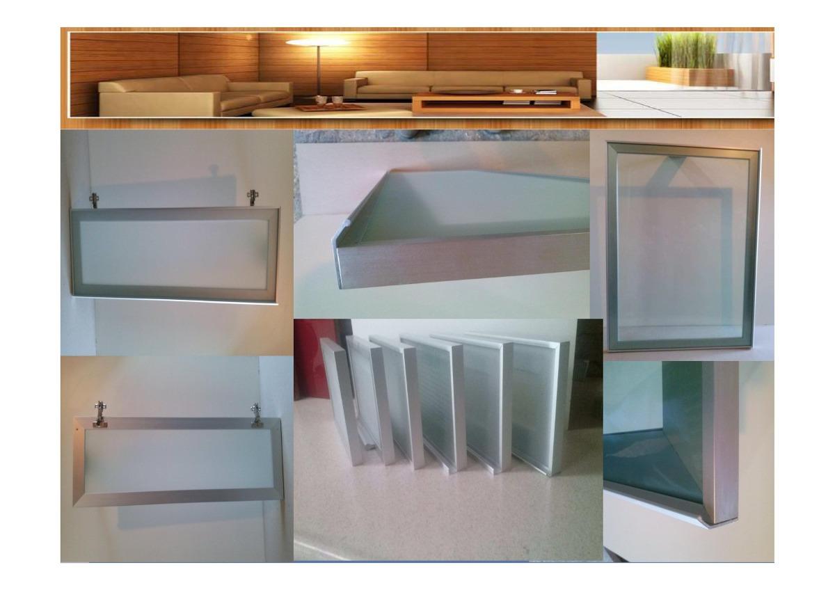 Puerta de aluminio para cocina x en - Puerta abatible cocina ...
