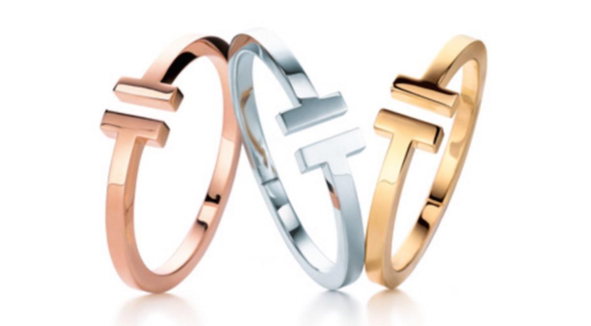 Pulsera Tipo Tiffany En Acero Color Oro Rosado Y Oro