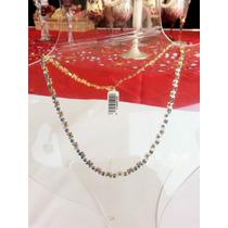 Collar Con Cadena De Cristal Austriaco Regalo Único! Vbf