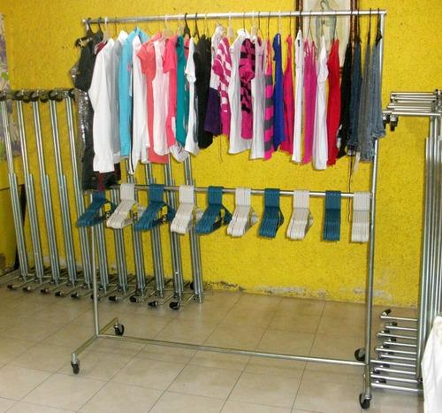 Racks para colgar toda tu ropa tipo closet super practicos for Colgadores para ropa