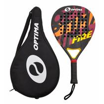 Raqueta De Padel Tenis Optima Fire Beach Tennis Con Funda