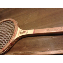 Raqueta Antigua De Squash
