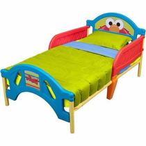 Cama Camita Infantil Para Niño Plaza Sesamo Elmo