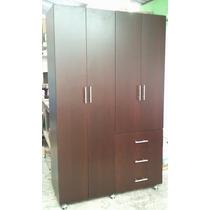 Closet Ropero Minimalista 1.20, Cajones Entrepaños Tubo