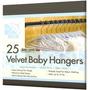 Gancho Para Ropa Infantil Velvet Baby 25 Pzs Ultra Delgados
