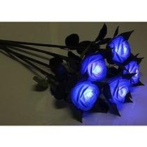 Hitop Led Blue Rose Enciende Flores Románticas Y Hermosas De