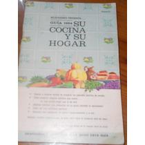 Almanaque 1964 Recetario Su Cocina Y Su Hogar
