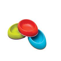 3 Platos Antideslizables-rojo-verde-azul - Dish