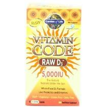 Jardín De La Vida Código Vitamina D3 Raw 5000, 60 Cápsulas