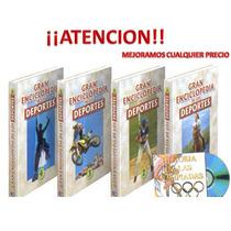 Gran Enciclopedia De Los Deportes 4 Vols + 1 Cd