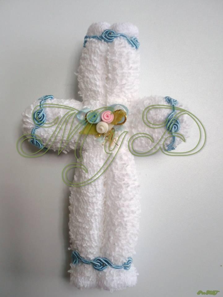 Recuerdos para bautizo con toallas faciales - Imagui