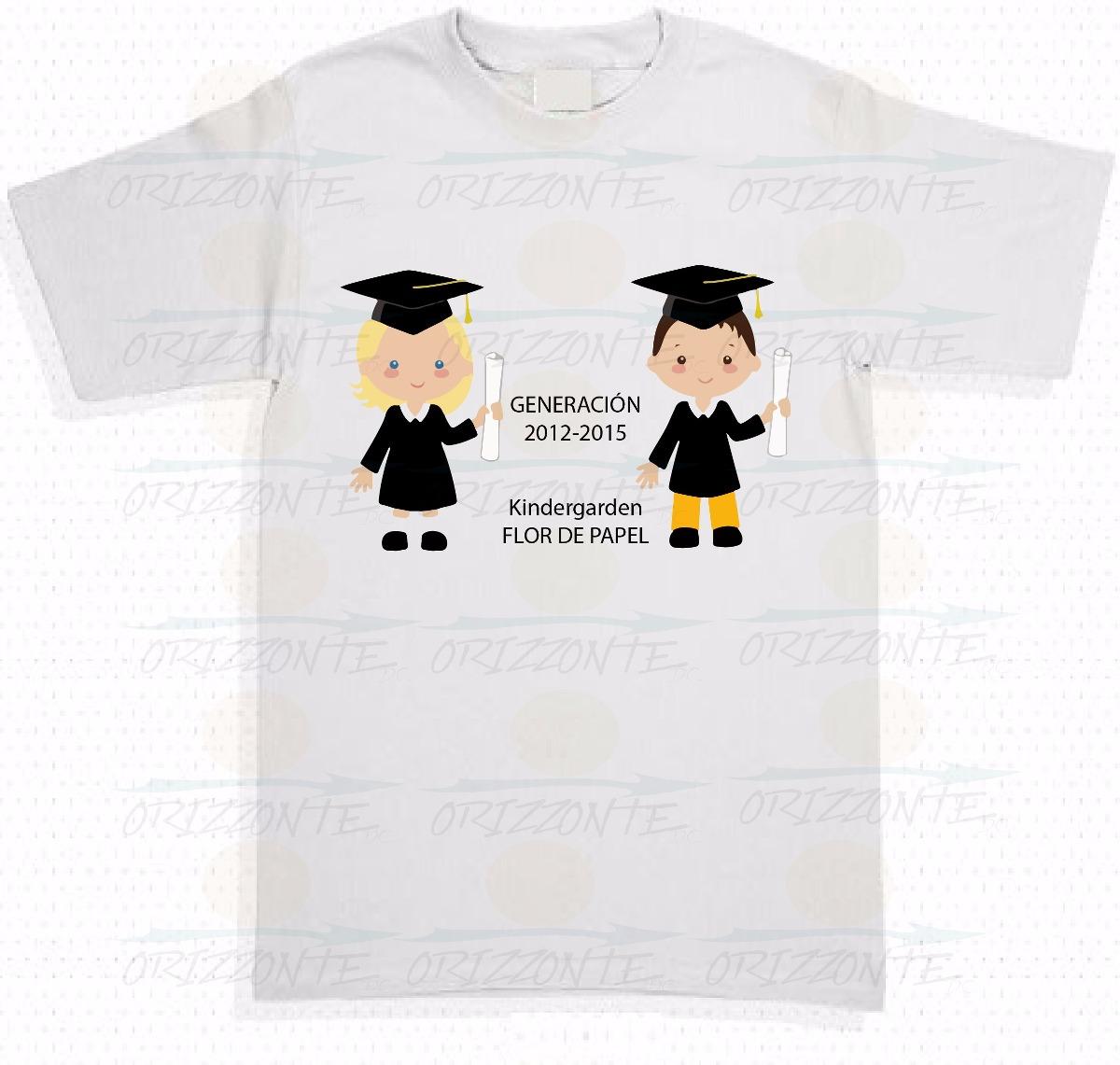Recuerdo De Graduacion Primaria Y Secundaria Playera - $ 90.00 en