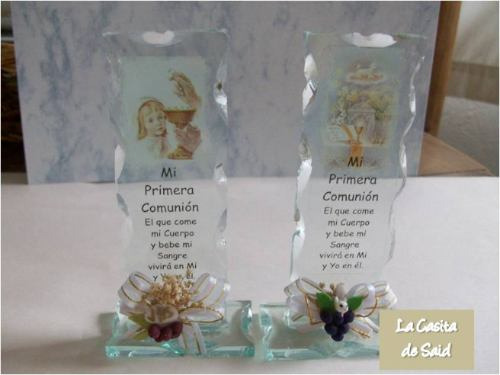 Recuerdos de bautizo con vidrio - Imagui