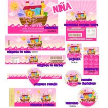 Baby Shower Kit De Invitacion Mas Etiquetas Impremelo Tu!sp0