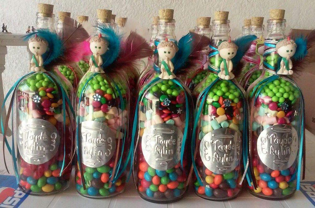 Recuerdos botellas de vidrio c dulces o regalo - Botellas de vidrio para regalo ...
