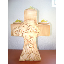 Cruz Porta-velas De Cristo -super Oferta-