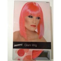 80s Traje - Neon Pink Glam La Peluca De Adultos 70s Fancy Dr