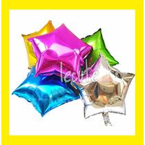 10 Globos Metalicos Estrella Corazon Qualatex 22 Pulgadas